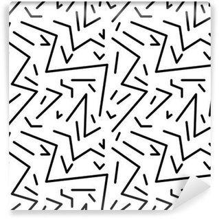 Vinyl Fotobehang Naadloze geometrische vintage patroon in retro jaren '80 stijl, Memphis. Ideaal voor stof ontwerp, papier print en website achtergrond. EPS10 vector-bestand