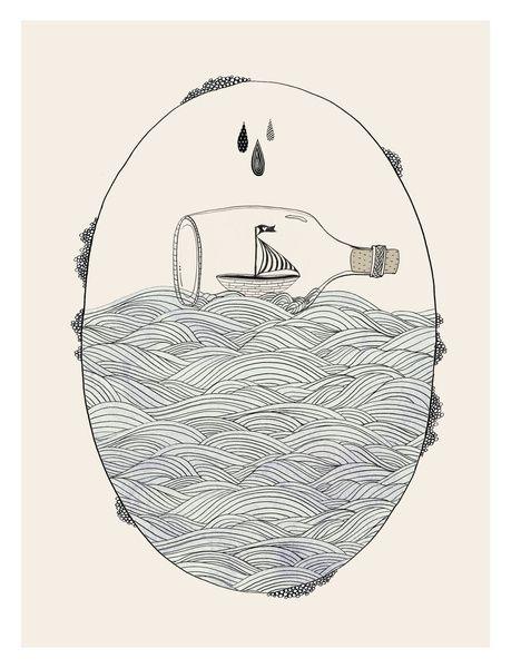 SEABOUND Art Print by Kelli Murray | Society6 Encinitas