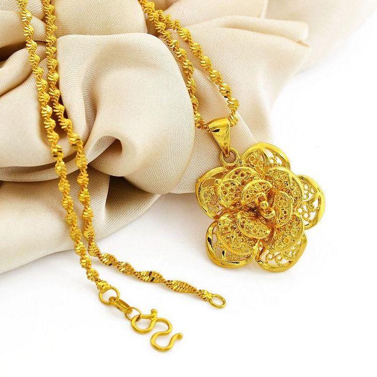 Wholesale Gold Rose Pendant Necklace 999 Golden Foot 24 Karat Gold Jewelry Gift Wholesale Clothing Chain Mens Braces Suspender Belt From Shunv900416, $9.21| Dhgate.Com