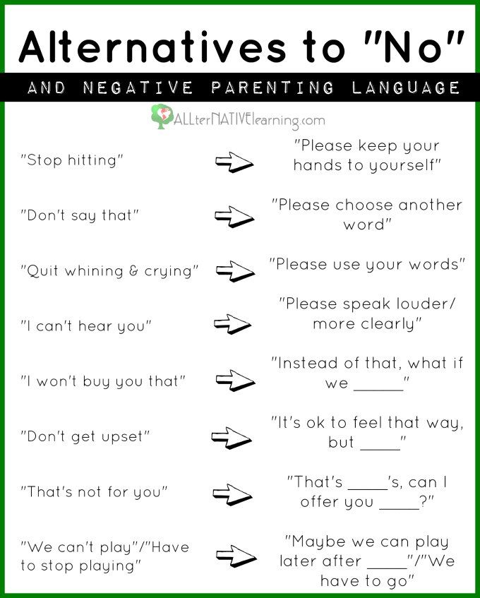 """How Negative Language Impacts Kids And Why """"no"""" Should Be"""