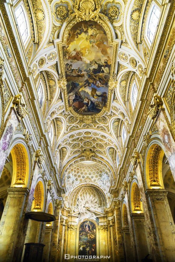 San Luigi dei Francesi - Rome #archeology #architecture #black and white #city #cupola #domes #fabio #italy #lamanna #nikkor #nikon #portico #rome #sky