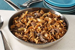 One pot Beef stroganoff and can be w/o mushrooms in my pressure cooker!