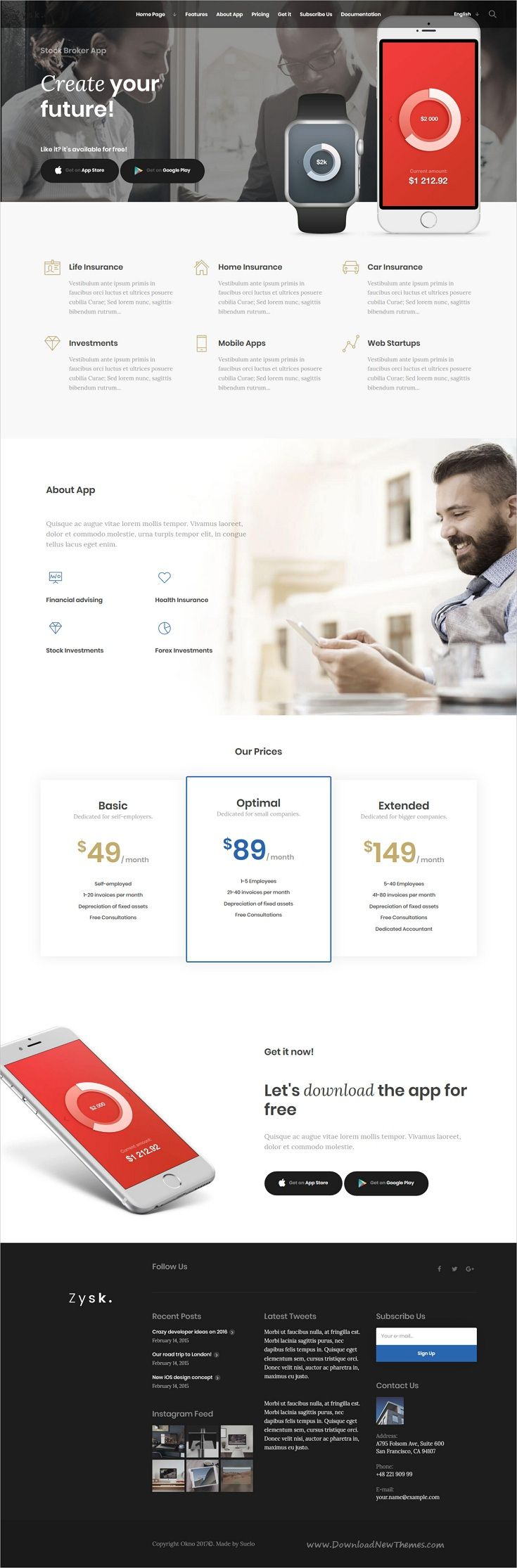 Zysk is smooth and stylish 7in1 responsive #WordPress theme for #sharemarket  #stock #broker #business, finance and consulting services professional website download now..