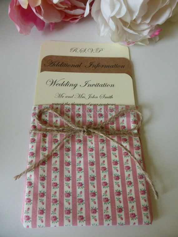 Unique Handmade Wedding Invitation in Floral by OloveDesigns