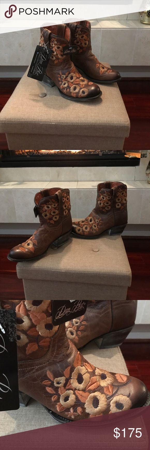 NWT Dan Post boots Dan Post ankle boots ! New with tags... beautiful embroidered flowers Dan Post Shoes Heeled Boots