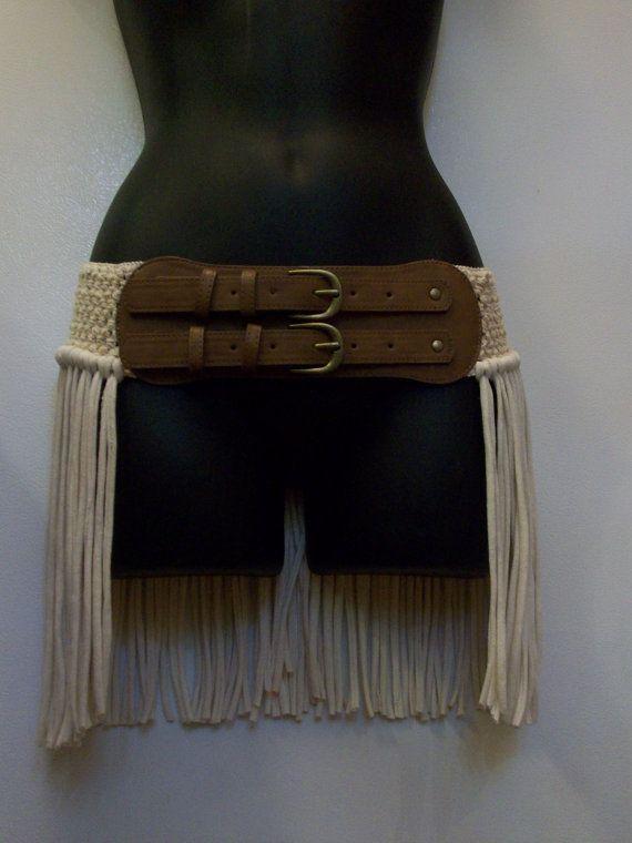 Hip wrap hip belt pixie skirt hooping skirt fringe belt by LamaLuz, $44.00