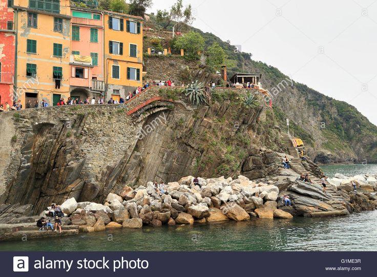 Riomaggiore, Cinque Terre, Liguria, Italy Stock Photo, Royalty Free Image…