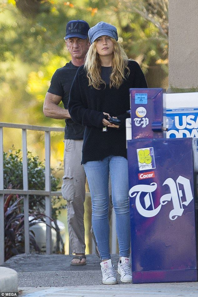 He's no sugar daddy! Sean Penn, 57, takes Leila George, 25, to breakfast... at budget pancake chain IHOP on Monday