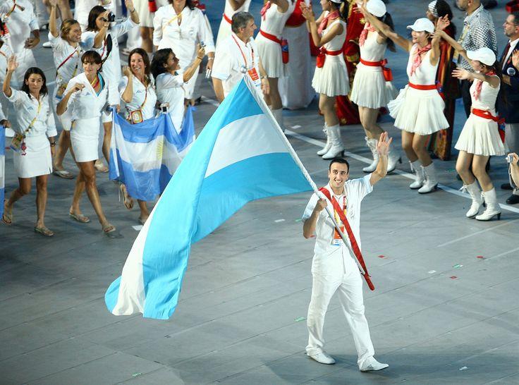 Beijing 2008: Emanuel Ginóbili, el abanderado argentino (Getty Images)