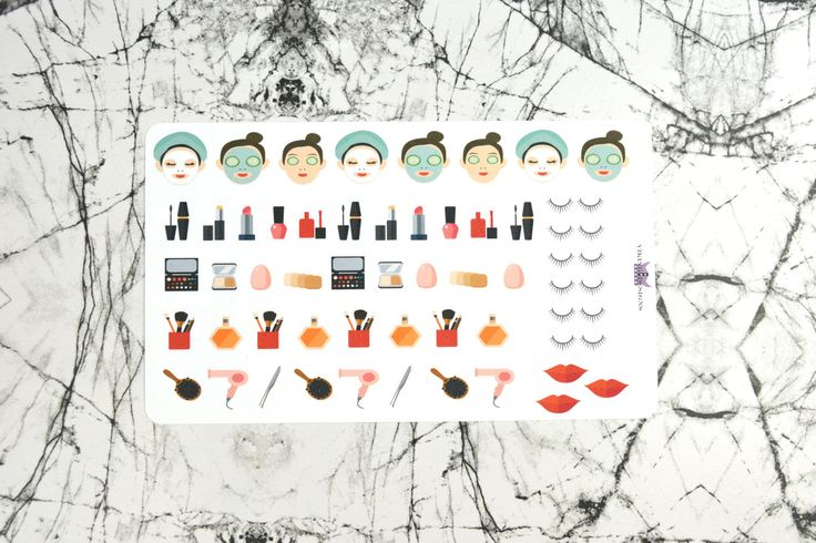 Me Time / Make up stickers by VikingDesigns1 on Etsy