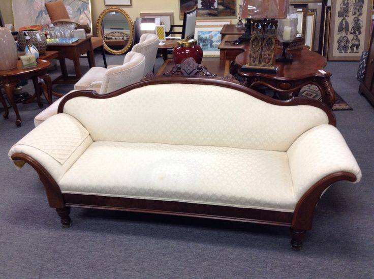 Small Victorian Settee - item 1574-5. Price $260.00   - http://takeitorleaveit.co/2017/06/25/small-victorian-settee/