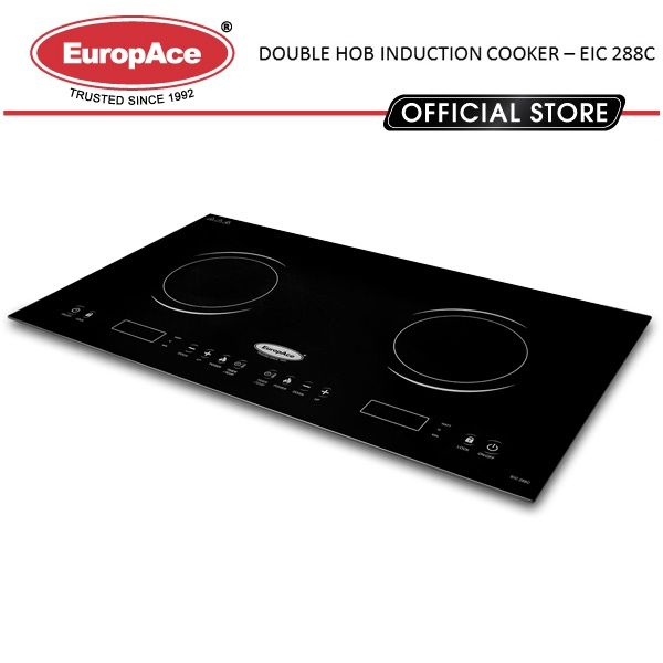 Europace Europace Double Hob Induction Cooktop Schott Ceran Made In Germany Cooktop Touch Sensor Induction Cooktop Hobs Schott