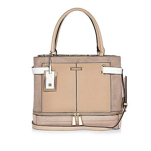 Light pink tote handbag