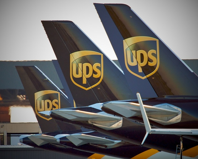 United Parcel Service (UPS) aircraft at Dallas-Fort Worth - Tails of a Feather Flock Together