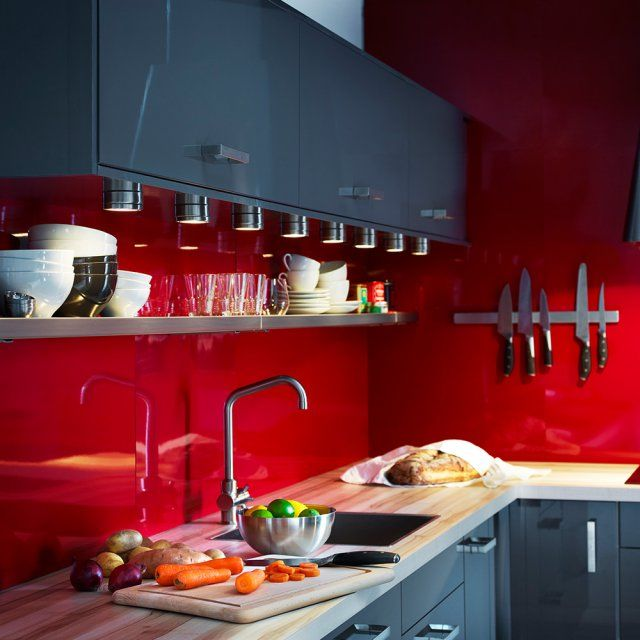 1000 images about cuisines kitchens on pinterest for Revetement mural a coller