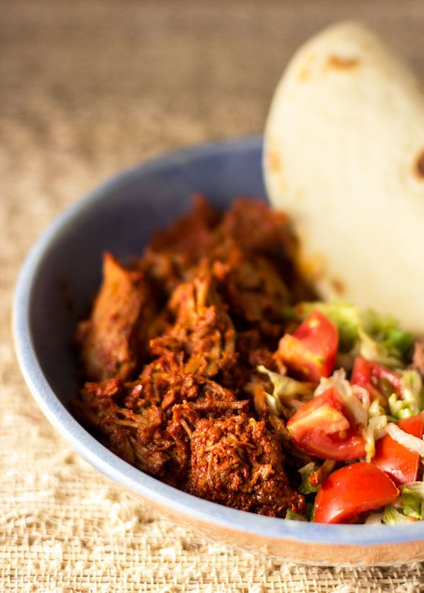 New Mexico carne adovada or pork marinated and slow-cooked ...