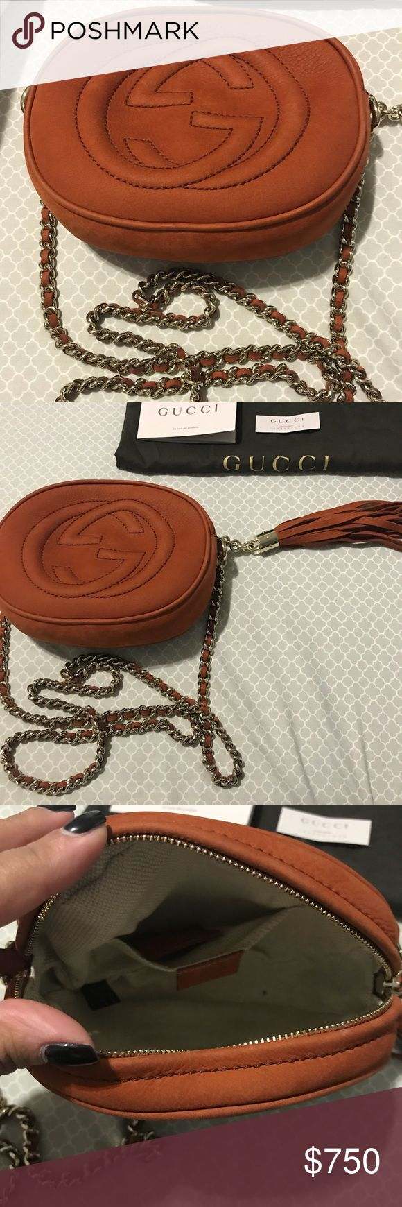 Authentic Gucci Suede Disco Bag Perfect bag for a night out. Fits all your essentials. In almost new condition. Only used a few times and is always stored. Perfect color for fall and winter. Includes dust bag. Price is negotiable. Gucci Bags Crossbody Bags