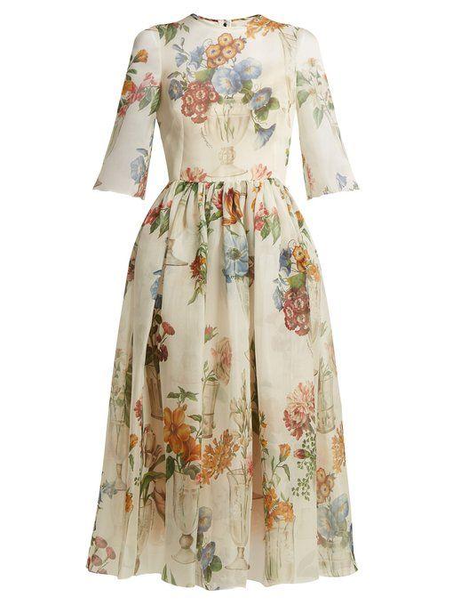 0da448340e3d8e3 Dolce & Gabbana Платье из цветной шелковой ткани | DOLCE&GABBANA ...