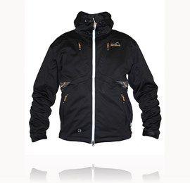 Arrak Softshell jakke sort - med apport lomme bagpå <3  str. M