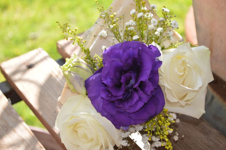 Purple, white and green!