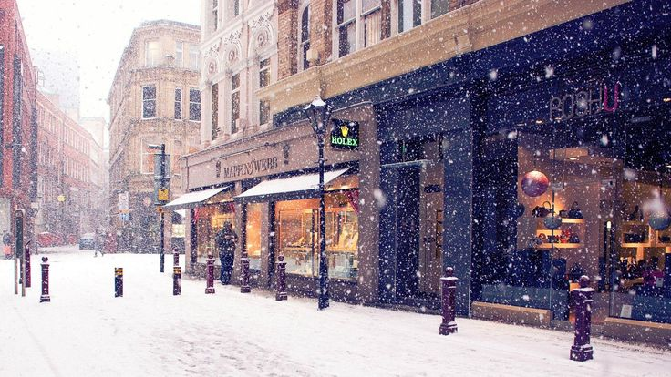 awesome snowing in town