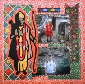Animal Kingdom scrapbook page with Lord Rama from Cricut's Autumn Celebrations - Travel Album 20 – Disney Animal Kingdom