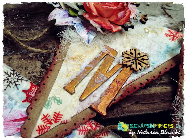 Art Recipes and More: Shabby Chic Xmas Banner for Scraps N Pieces - The Blog