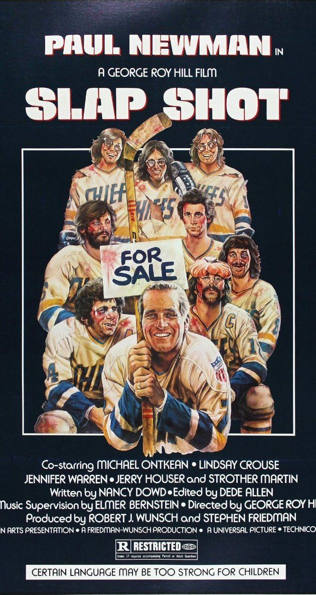 Slap Shot (1977) - Favorite sports movie and one of the funniest films ever. Every time I go to a hockey game, I get the urge to go back and watch this. Captures that era well too.
