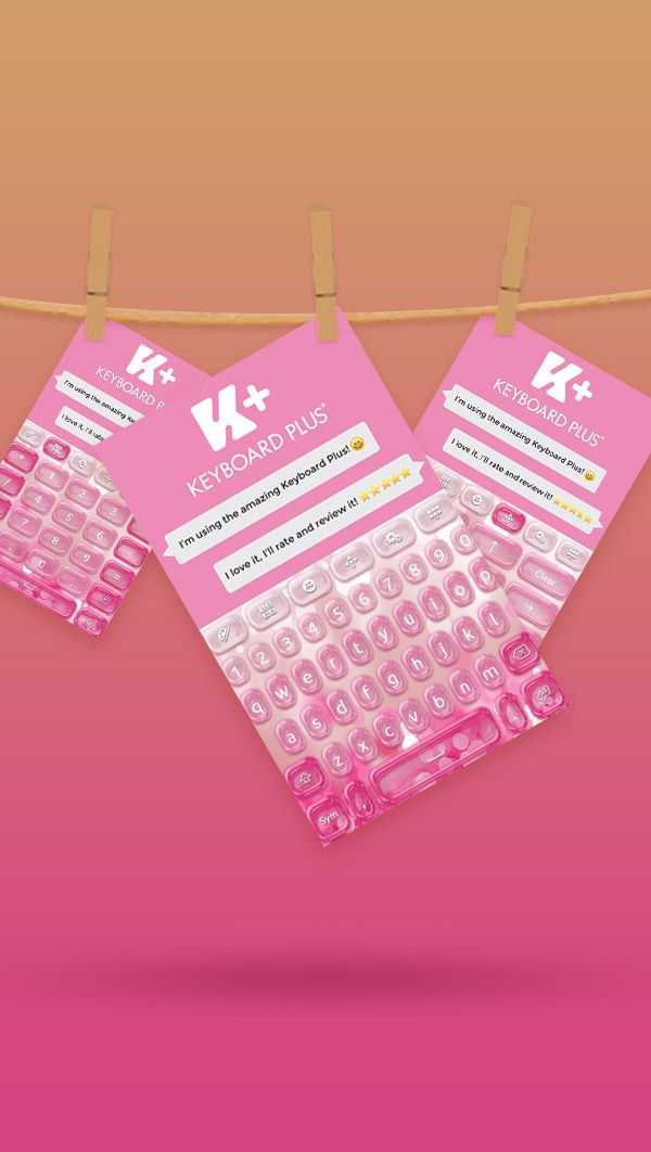 Be a trend-setter among your #friends with this new #Pinky Keyboard Theme.