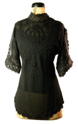 heirloom blouse black: Blouses, Black 40, Classic Shirtwaist, Black Laces, Heirloom Blouse, Black Awaiting, Black Blouse