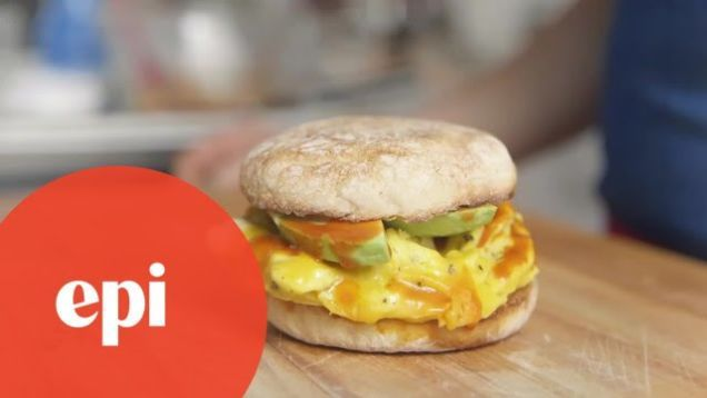 Most of us don't have a lot of time in the morning to cook a luxurious breakfast, but this technique from Epicurious delivers one of the most delicious-looking egg sandwiches I've seen in minutes, and all you need is an egg, a microwave, and some sandwich fixings (you know: bread, cheese, and a few condiments.)