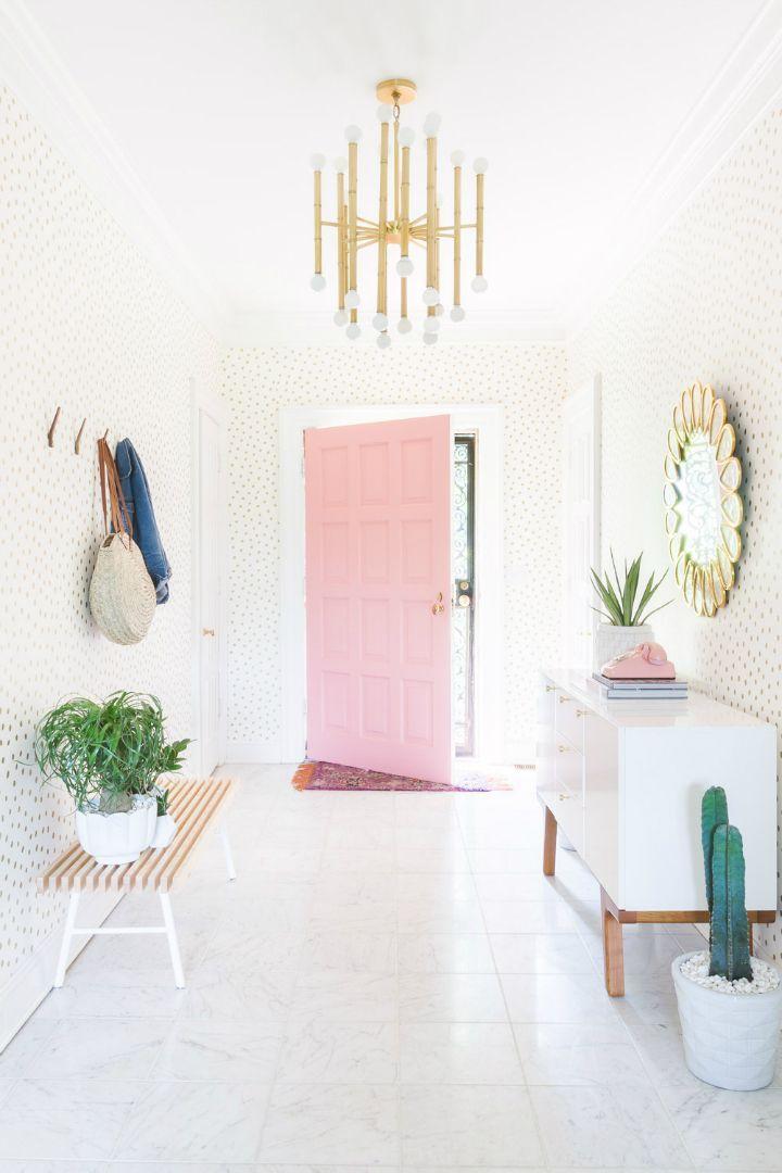 pastel interior design | entryway design