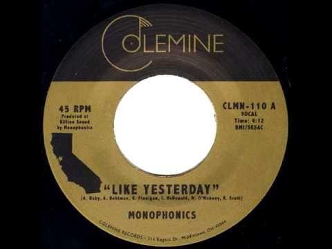 """Monophonics - """"Like Yesterday"""" - Soul Funk 45 (+playlist)"""