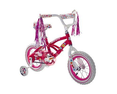 Hello Kitty Girls 12 Bike, Small, Pink/White by Hello Kitty. Hello Kitty Girls 12 Bike, Small, Pink/White. Small.
