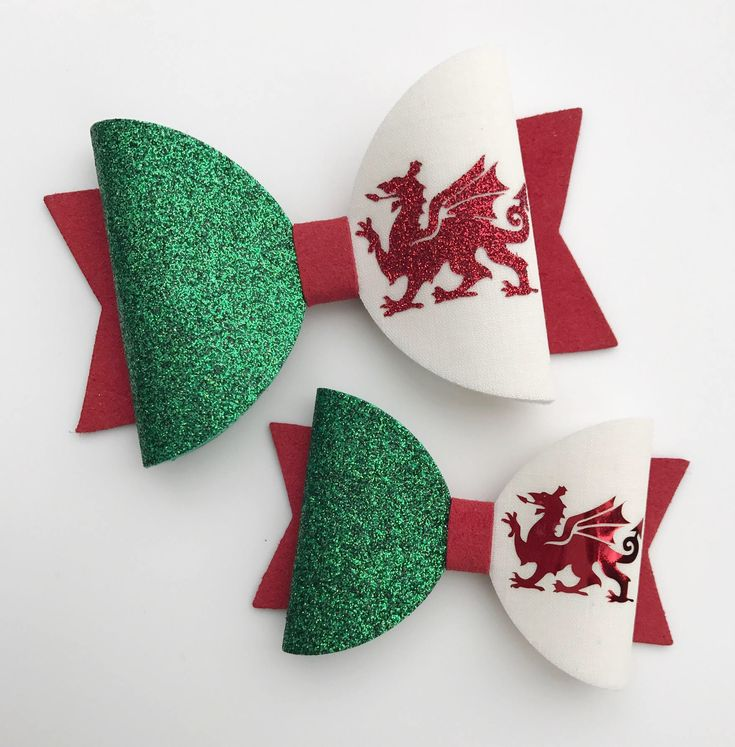 Excited to share the latest addition to my #etsy shop: Welsh Hair Bow, St David's Day, Six Nations Rugby, Welsh Flag, Welsh Dragon, Wales, Girls Hair Accessories, Baby Headband,