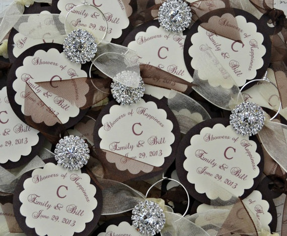 Wedding Wine Charm Favors Customized Personalized By TipsyDesigns 250