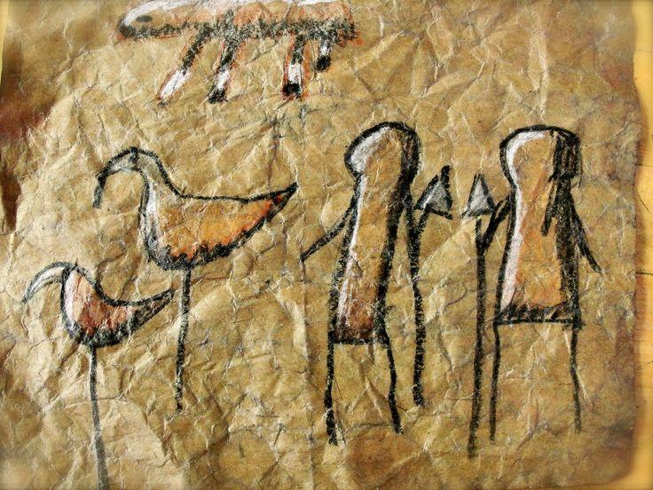 Caveman Art : Cave paintings da vinci s wings rd grade lascaux