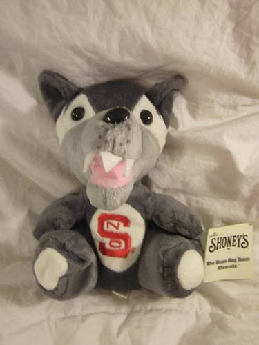 "North Carolina State Wolf Pack Plush Mascot Shoneys Bean 1997 Vintage 9"" | eBay: Wolfpack, Wolf Pack"