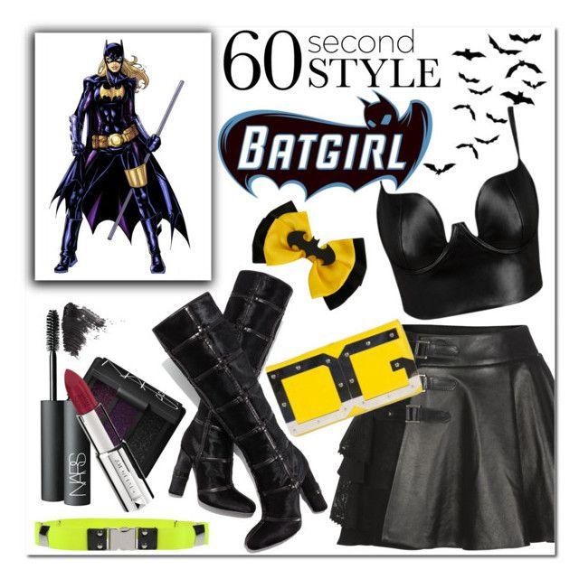 NaNaNaNaNaNaNa Batgirl! by lgmrkm on Polyvore featuring Posh Girl, Mairi Mcdonald, Tom Ford, Dolce&Gabbana, MSGM, NARS Cosmetics, Givenchy, Topshop, rian and Halloween