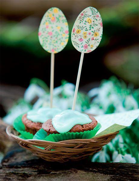 Fru Hares gulerodskager - skønne små påskekager lavet af små påskefingre ... :) BarneGuiden.DK