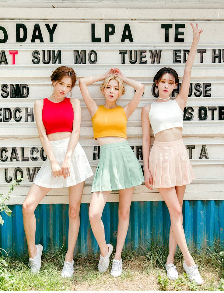 Fresh Color Cropped Top    Korean Fashion #chuu