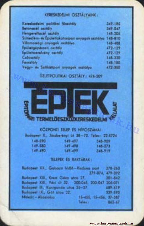 1974 - 1974_0750 - Régi magyar kártyanaptárak