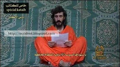 Somalia's Harakat al-Shabab al-Mujahideen insurgent group  video of a French security adviser it is holding prisoner on June 9 via its Al-Kata'ib (Brigades) Media Foundation.  Denis Allex, was captured on July 14, 2009 in the embattled Somali capital, Mogadishu. Allex asks the Frenchgovernment to work for his release and  reads a list of demands from his captors, clearly under pressure from them.