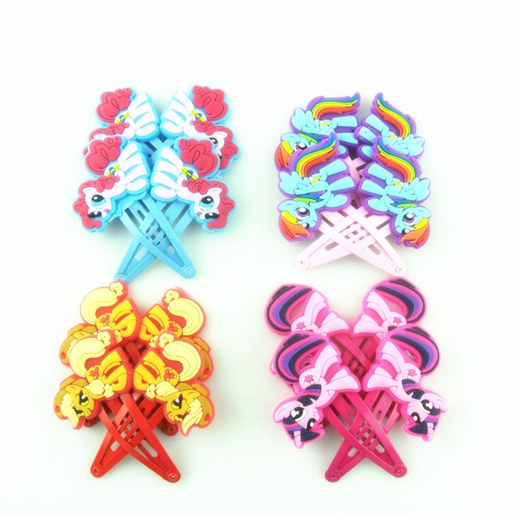 2pcs/lot Cartoon Baby Girl Headbands My Little Ponys Hair Clip for Women Children Kids Anna Elsa Hair Accessories Hairpins Bows