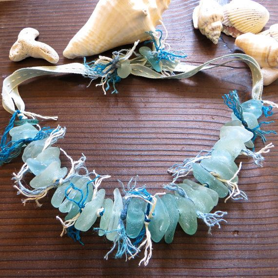 Flotsam and Jetsam  Turquoise Scottish Sea Glass Necklace by Assja, $105.00