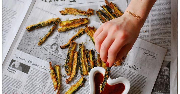 La Dinette de Nelly: Frites de courgettes light au four {Amande + Parmesan}