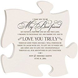 Personalised Wedding Art Gift for Bride and Groom I take you to be my best Friend to Love you truly Best Friend Wall Decor Made in USA Wall Art Exclusively from DaySpring Milestones 12x12 (White)
