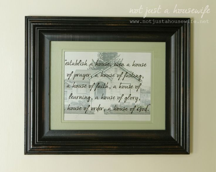 establish-a-house-of-prayer, words put over a picture of your own house. Great for the command center