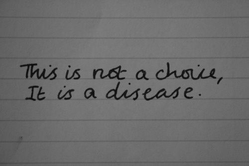 This is not a choice, it is a disease. #depression