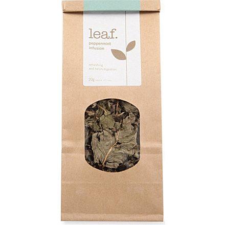 LEAF Peppermint infusion loose leaf tea 20g http://teapause.com/all-about-tea/best-tea-brands/